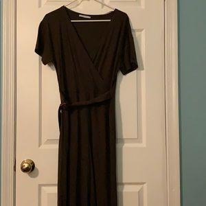 Zara Basic Brown Jumpsuit with Belt NWOT